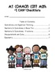 """CCSS Math """"I Can"""" Statements - Student Friendly Checklists and Self-Assessments"""