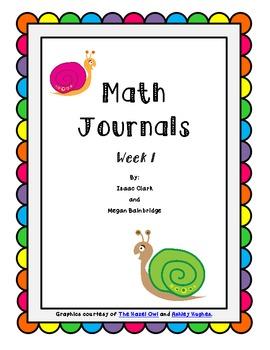 CCSS Math Journals