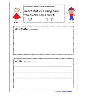 CCSS Math Journals 2nd Grade Expanded Notation and Place Value