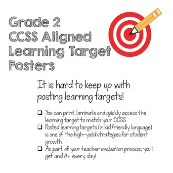 CCSS Math Learning Target Posters Grade 2