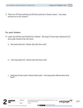 CCSS Math Module 4, Topic B