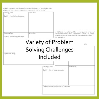 CCSS Math PROBLEM SOLVING Whole Year Interactive Notebook ~ Grades 3, 4, 5