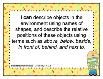 CCSS Math Posters with User Friendly Parent Booklet