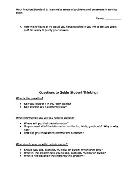 CCSS Math Practice Standard 1