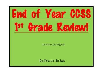 CCSS Math Review Lesson~1st Grade