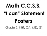 CCSS Math Standard Posters - Grade 2