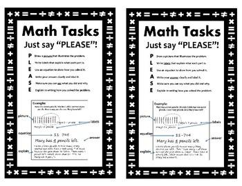 CCSS Math Tasks- PLEASE Strategy