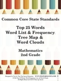 CCSS Math Top 25 Word List and Frequency - 2nd Grade