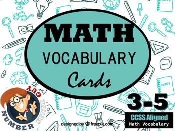 CCSS Math Vocabulary Cards 3-5