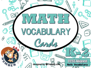 CCSS Math Vocabulary Cards (K-2)