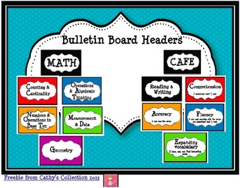 CCSS Math and Reading and Writing Bulletin Board Headers (FREEBIE)