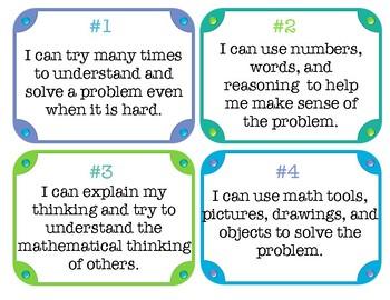 CCSS Mathematical Practices: Student Friendly Language