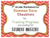 CCSS Mathematics First Grade Student Checklist - Tracking Progress
