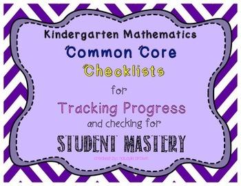 CCSS Mathematics Kindergarten Student Checklist - Tracking Progress