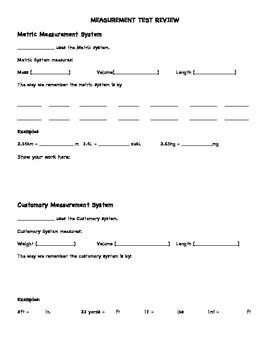 CCSS Measurement Review