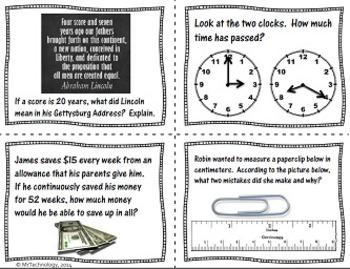 Measurement Task Cards for Grades 4 & 5