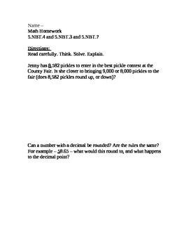 CCSS Module 1, Homework 5-8