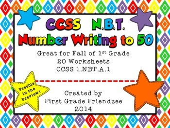 CCSS NBT: Number Writing to 50