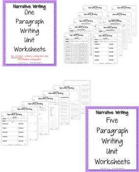 Narrative Writing Unit - CCSS Anchor Charts & Generic Topic Writing