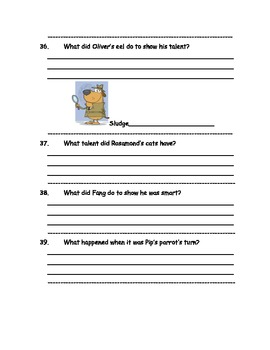CCSS Nate the Great and the Fishy Prize, Text-Based Questions & Poetry