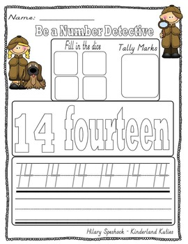 CCSS Number Recognition 1-20