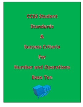 CCSS Number and Operations Base Ten 4th Grade