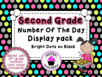 Bright Dots on Black- Common Core Number of the Day Displa