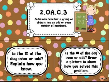 Dots on Chocolate- Common Core Number of the Day Display Pack-2nd grade