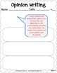 Opinion Writing Unit - CCSS Anchor Charts & Generic Topic