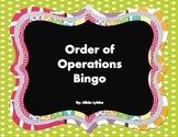 Order Of Operations Bingo (with Exponents)