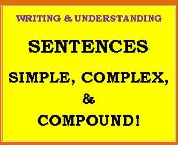 CCSS PARCC-ALIGNED: Simple Complex & Compound SENTENCES!
