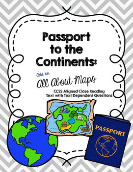 CCSS Passport to the Continents: All About Maps Add-On