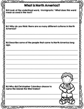 CCSS Passport to the Continents: North America- 8 Text Close Reading Bundle