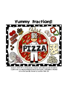 CCSS Pizza Fractions for ActiveInspire