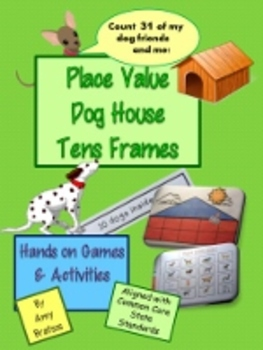 CCSS Place Value Dog House Ten Frame Math Game and Center