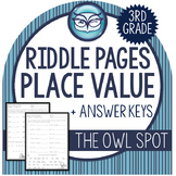 CCSS Place Value Riddle Worksheets - Grade 3