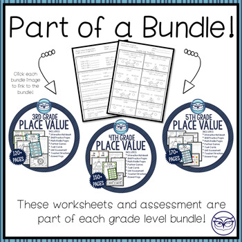 Grade 4 Place Value Worksheets and Assessment - CCSS Aligned
