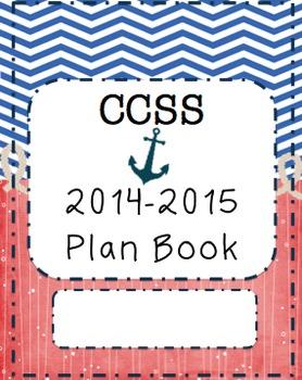 CCSS Plan Book- Nautical Theme