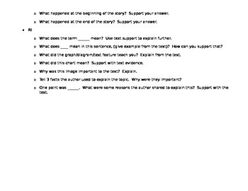 CCSS Question Prompts: 2nd Grade