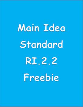 CCSS RI2.2 Main Idea Freebie