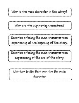 CCSS RL.3.3 Literacy Small Group Activity - Character Traits, Actions, Conflict