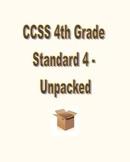 CCSS RL.4.4 / RI.4.4 Unpacked Resource