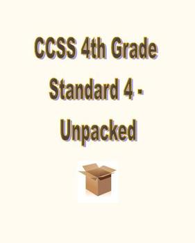 CCSS RL.4.4 / RI.4.4 Unpacked Resource