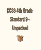 CCSS RL.4.9 / RI.4.9 Unpacked