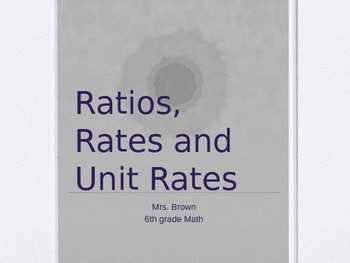 CCSS RP - Ratios, Rates and Unit Rates PPT game