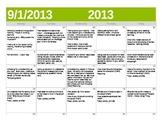 CCSS Reader's Workshop Unit 1 Calendar