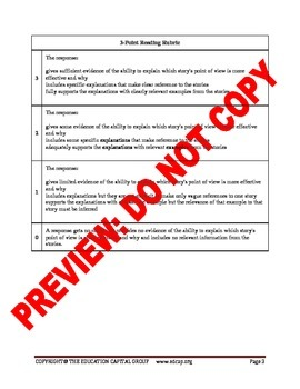 4th-5th Grade CCSS Reading Constructed Response Bundle with Rubrics
