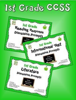 1st Grade CCSS Reading Discussion Bundle ( Ideal for ESL)