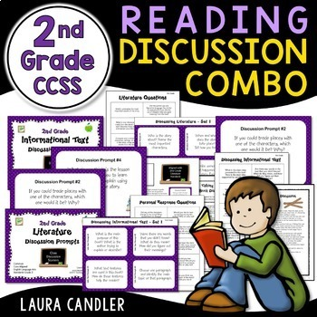 2nd Grade CCSS Reading Discussion Bundle ( Ideal for ESL)