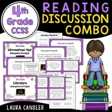 4th Grade CCSS Reading Discussion Activity and Task Cards Combo
